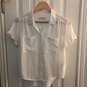 Abercrombie & Fitch short sleeved sheer shirt